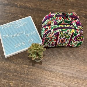 Vera Bradley Floral 3 zipper Attache' Travel Case
